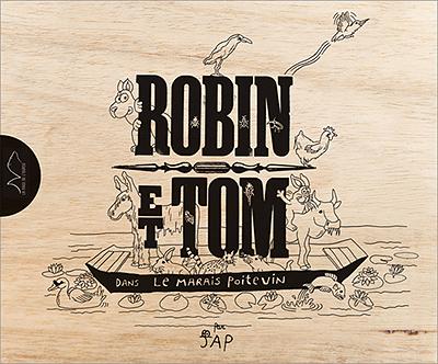 Robin et Tom dans le Marais poitevin par JAP - couverture bois